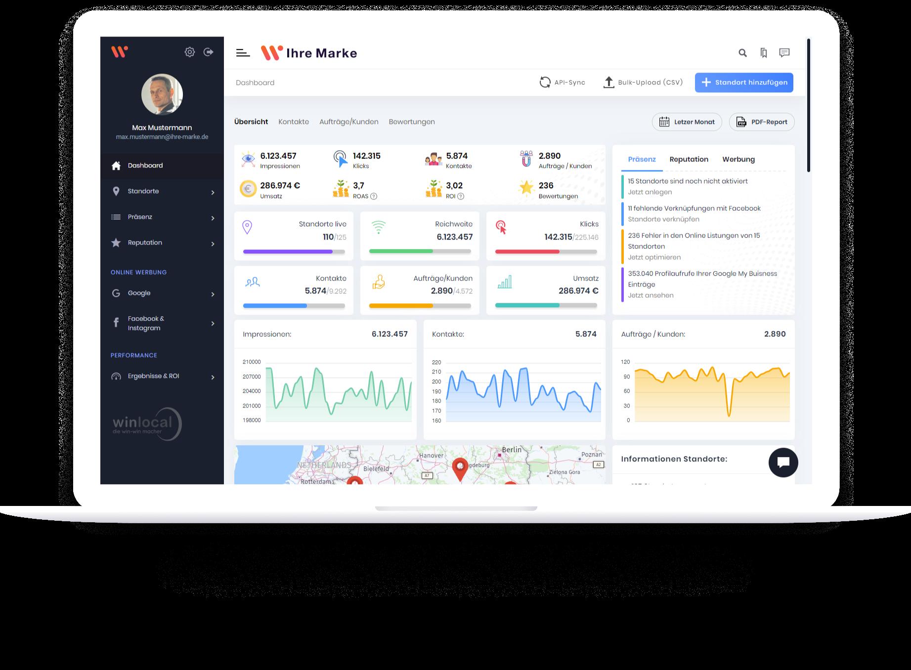 Winlocal Online Schaltzentrale